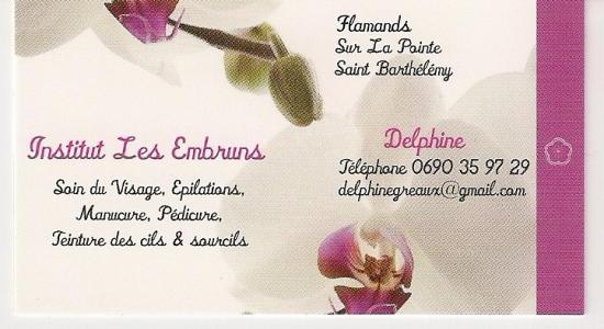 CHEZ DELPHINE ON REPART TOUJOURS AVEC LE SOURIRE SUR LA PEAU