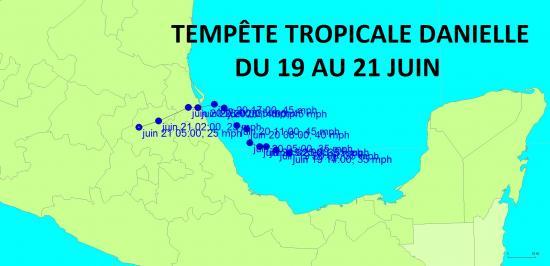 Tempete tropicale danielle